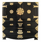 Korean Black Lacquer Cabinet