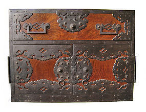 Japanese Rare Antique Fune Tansu (Ship Chest)