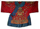 Antique Chinese Imperial Court Robe with 8 Dragons