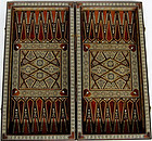Antique Folding Egyptian Backgammon Board with Inlay