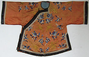 Chinese Ladies Coat with Gold Embroidery