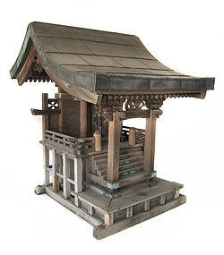 Japanese Edo Period Shinto Shrine with Copper Roof
