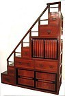 Japanese Antique Keyaki Staircase Tansu