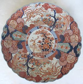 Huge  Japanese Colored Imari Charger