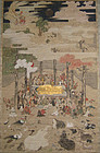 Japanese Buddhist Scroll of Parinirvana