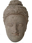 Antique Ghandaran Stucco Head