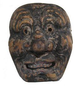 Antique Japanese Gigaku Mask