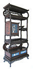 Japanese Antique Curio Cabinet with Blue Lacquer