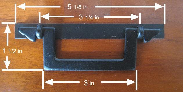 "5 1/8"" Japanese Square Iron Tansu Handle"