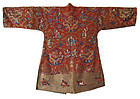Antique Chinese 8 Dragon and Zodiac Embroidered Robe