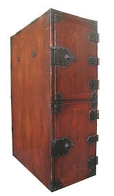 Japanese Antique Tall 2 Door Gyosho Bako