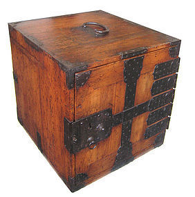 Japanese Antique Hinoki Wood Fune Tansu (Ship Safe)