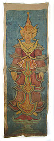 Cambodian Temple Painting of Guardian