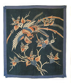 Japanese Antique Futon Cover with Phoenix