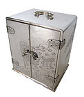 Japanese Antique Silver Jewelry Box with Drawers