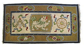 Chinese Antique Rug with Fu Lion