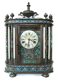 Chinese Antique Beautiful Cloisonne Clock