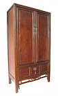 Chinese Antique Tall Jumu Wood Cabinet