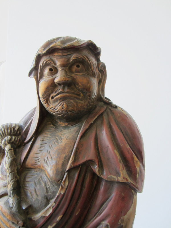 Antique Japanese Bodhidharma Carving