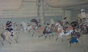 Japanese Historical Painting by Kai Seihyo