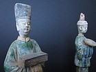 Pair of Ming Dynasty Tomb Figurines