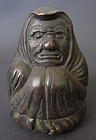 Japanese Antique Bronze Daruma Seal Box