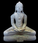 Antique Indian Marble Statue of a Jain Buddha