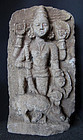 Antique Indian Durga Sculpture