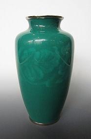 Japanese Green Cloisonne Vase