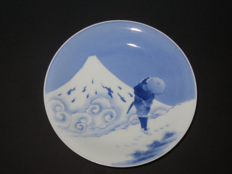 Antique Japanese Hirado Ware Porcelain Dish