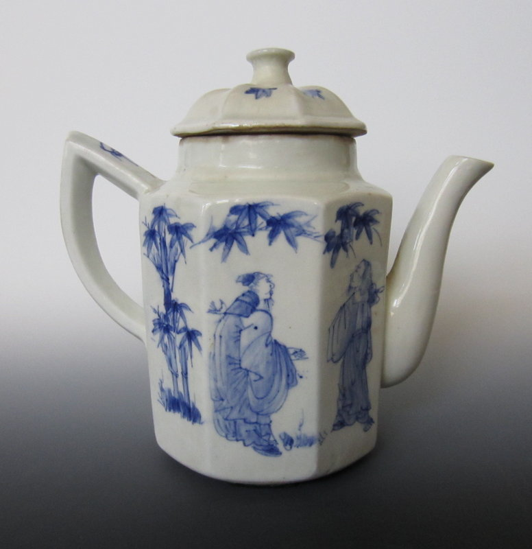Chinese Blue White Porcelain Coffee Ewer