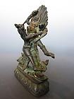 Tibetan Small Bronze Yab Yum Sculpture