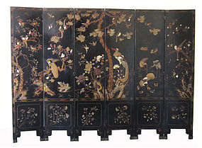 Chinese Coromandel or Kuancai Screen