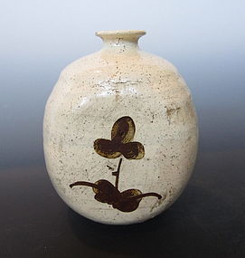 Korean Joseon Dynasty Buncheong Ware Flask