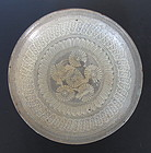 Korean Buncheong Ware Flat Bowl