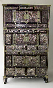 Antique Korean Inlaid Chest