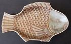Six Antique Japanese Porcelain Fish-Shaped Plates