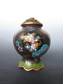Japanese Cloisonne Censer with Motif of Flowers