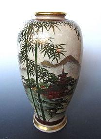 Antique Japanese Satsuma Ware Vase
