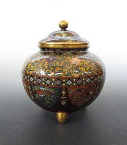 Meiji Period Japanese Cloisonne Censer