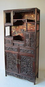 Chinese Hongmu Display Cabinet