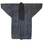 Large Japanese Antique Indigo Sakiori Hanten