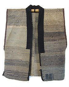 Japanese Antique Sakiori Sodenashi Work Vest