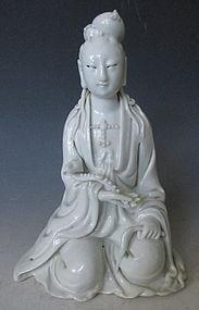 Chinese Dehua Blanc de Chine Porcelain Kwan Yin