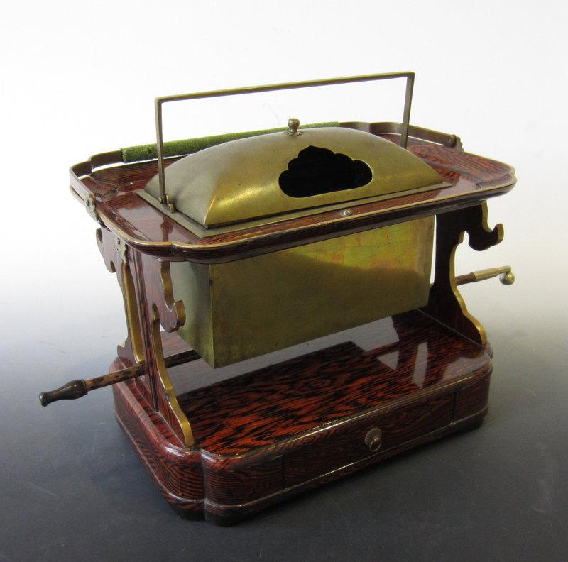 Japanese Lacquered Tesage Tobacco bon Set