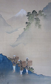 Japanese Scroll Painting After Hokusai