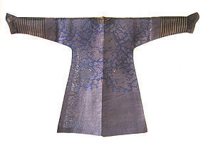 Chinese Antique Blue and Gold Dragon Robe