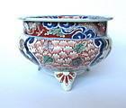 Meiji Period Nishiki Imari Tripod Censer