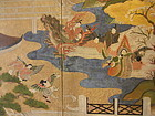 Six Panel Screen Chapter View from the Tale of Genji