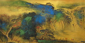 Chinese Landscape Painting by Disciple of Sun yu Sun
